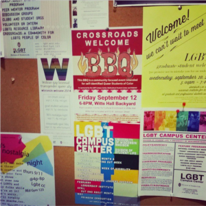Bulletin board of GSCC fliers