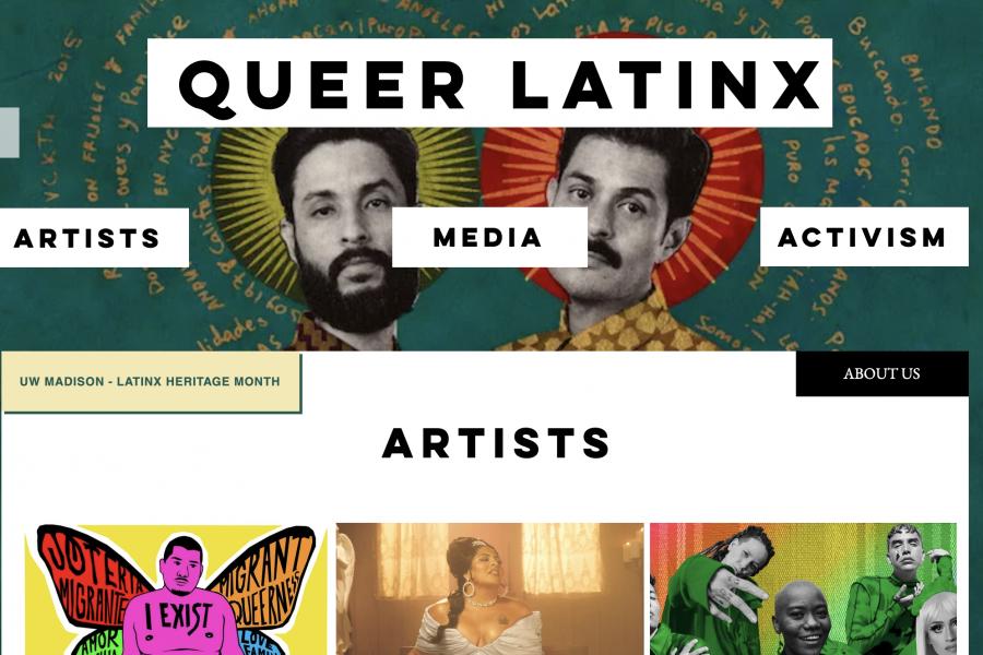 Queer Latinx site screenshot